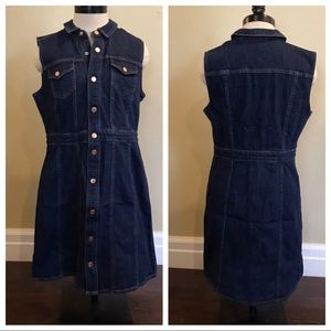 NWOT J Crew Sleeveless Denim Mini Dress